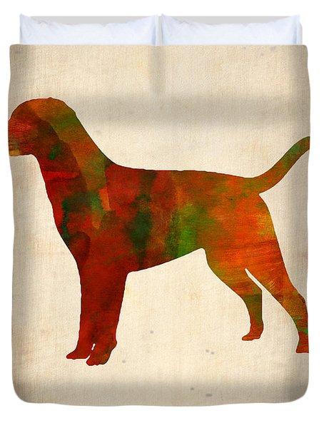 Labrador Retriever Poster Duvet Cover by Naxart Studio