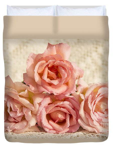 Lace And Roses Duvet Cover