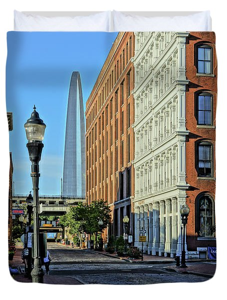 Laclede's Landing Just North Of The Arch Duvet Cover