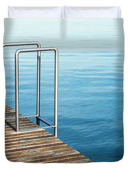 Duvet Cover featuring the photograph Ladder by Chevy Fleet