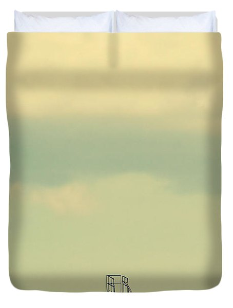 Ladder To Nowhere  Duvet Cover by Trish Mistric