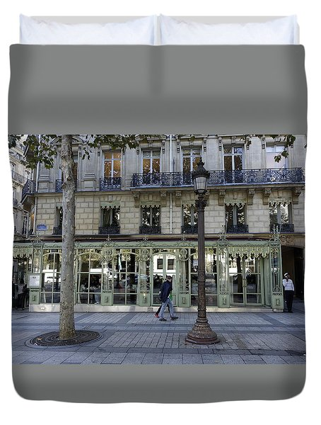 Laduree On The Champs De Elysees In Paris France  Duvet Cover