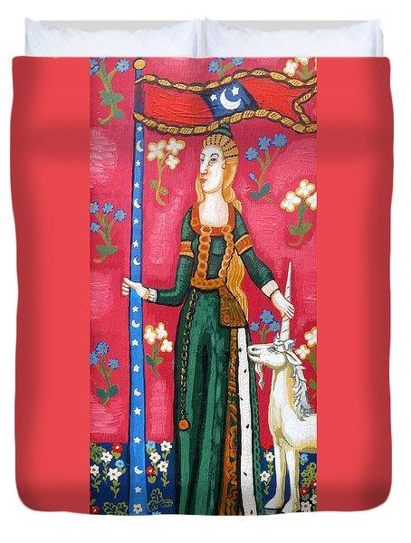 Lady And The Unicorn La Pointe Duvet Cover
