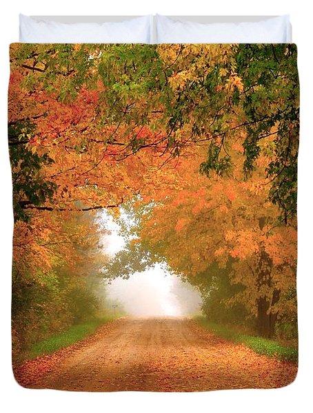 Lady Autumn Duvet Cover