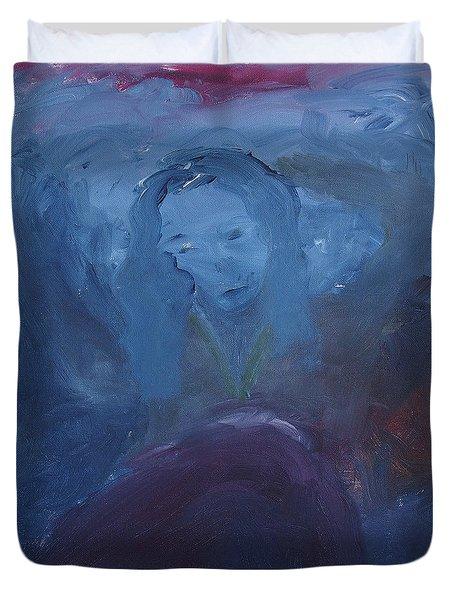Lady Blue Duvet Cover