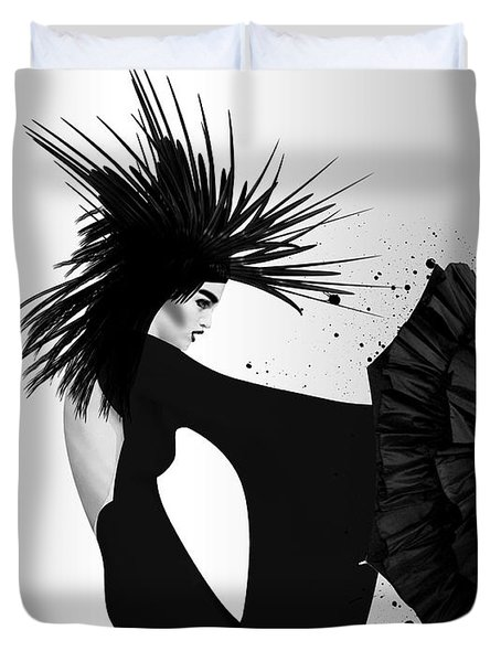 Lady D 2 Duvet Cover by Mark Ashkenazi