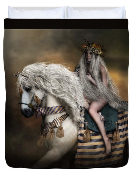 Lady Godiva Duvet Cover by Shanina Conway