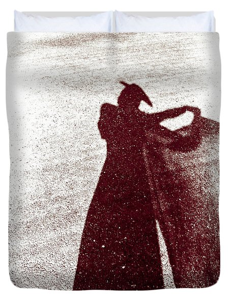 Lady In Red Duvet Cover by Caitlyn  Grasso