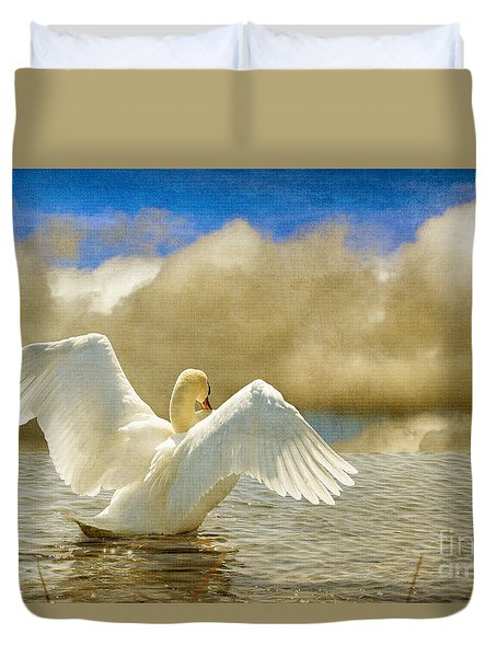 Lady-in-waiting Duvet Cover by Lois Bryan