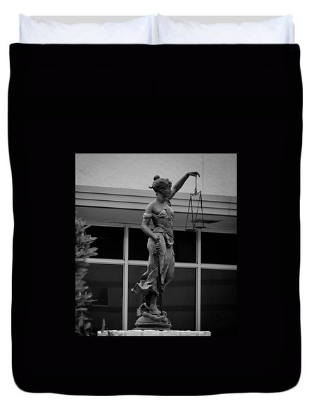 Lady Justice Duvet Cover