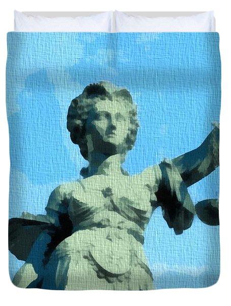 Lady Justice Pop Art Duvet Cover