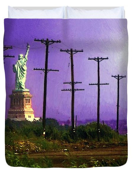 Lady Liberty Lost Duvet Cover