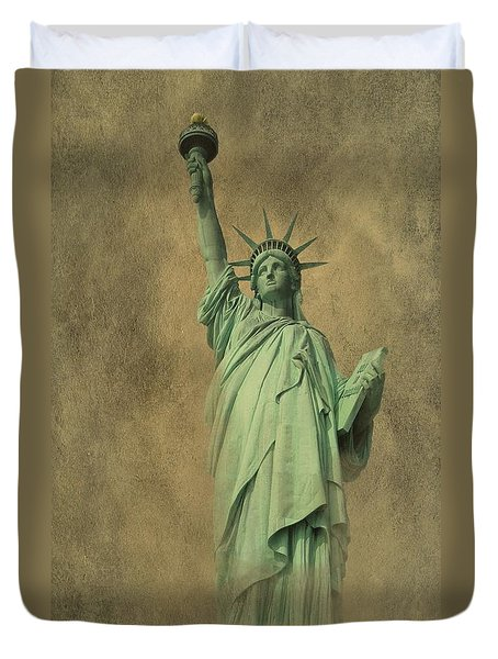 Lady Liberty New York Harbor Duvet Cover by David Dehner