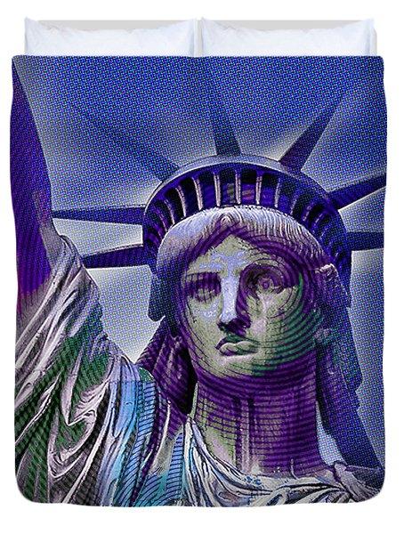 Lady Liberty Duvet Cover by Tony Rubino