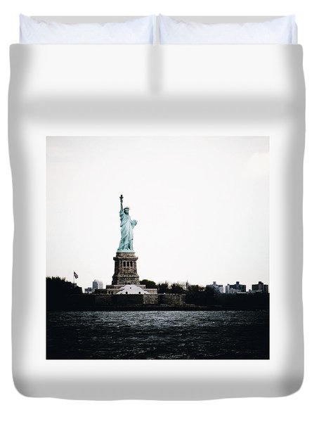 Lady Libery Duvet Cover by Natasha Marco
