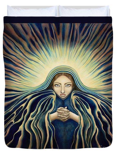 Lady Of Light Duvet Cover