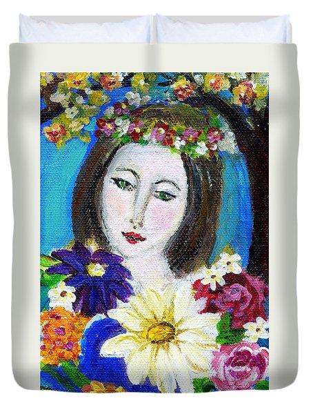Lady Of Spring Duvet Cover
