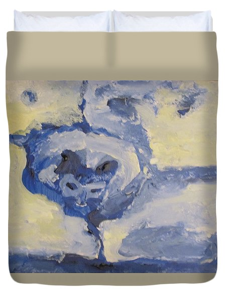 Lady On The Coach  Duvet Cover