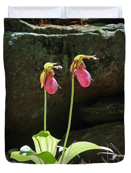 Lady Slippers At Moore State Park 5 Duvet Cover