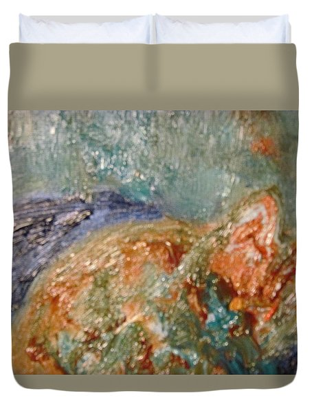 Lady The Cat Sleeping Soundly And Peacefully Duvet Cover