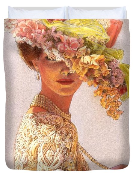 Lady Victoria Victorian Elegance Duvet Cover