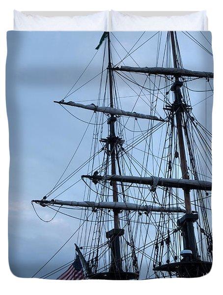 Lady Washington's Masts Duvet Cover by Heidi Smith