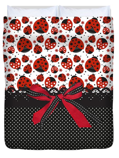 Ladybug Energy  Duvet Cover