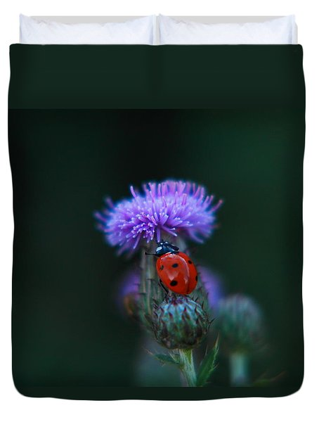Ladybug Duvet Cover by Jeff Swan