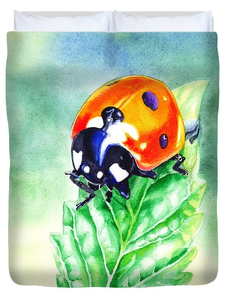 Ladybug Ladybug Where Is Your Home Duvet Cover