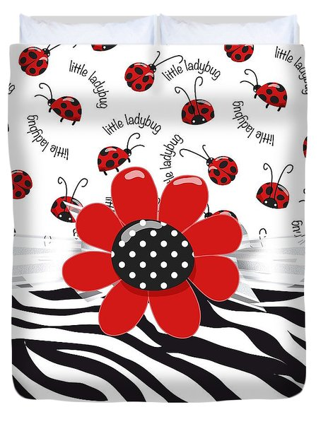 Ladybug Wild Thing Duvet Cover by Debra  Miller