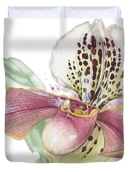 Ladys Slipper - Orchid 14 - Elena Yakubovich Duvet Cover
