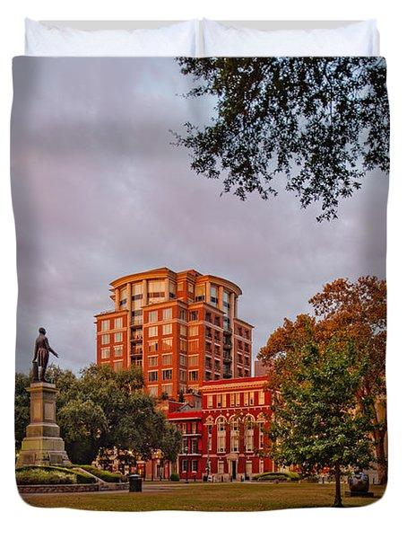 Lafayette Square New Orleans Downtown - Lousiana Duvet Cover