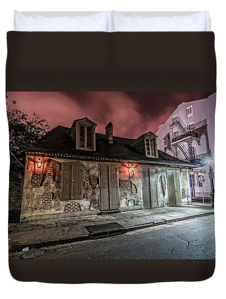Lafitte's Blacksmith Shop Duvet Cover