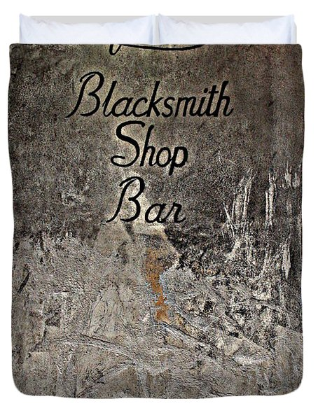 Lafitte's Blacksmith Shop Bar Duvet Cover by Beth Vincent
