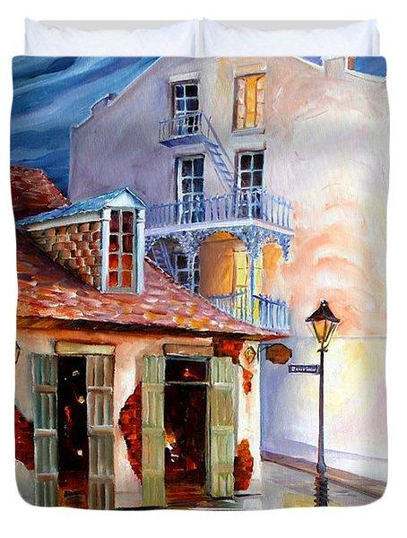 Lafitte's Guest House On Bourbon Duvet Cover by Diane Millsap