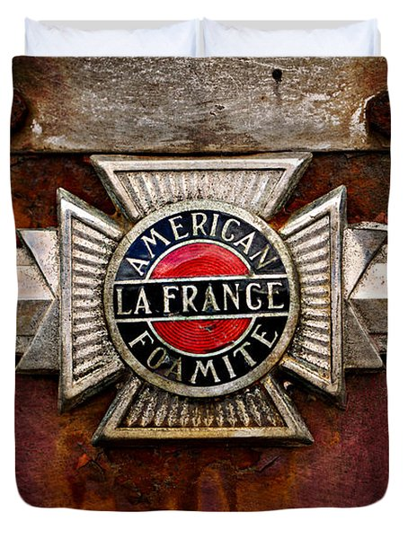 Lafrance Badge Duvet Cover