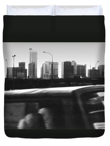 Lagos Skyline At Dusk Duvet Cover