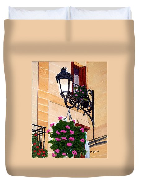 Laguardia Street Lamp  Duvet Cover by Mike Robles