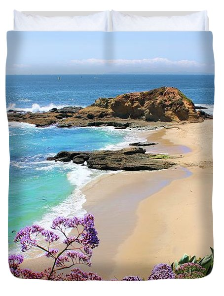 Laguna Beach Coastline Duvet Cover