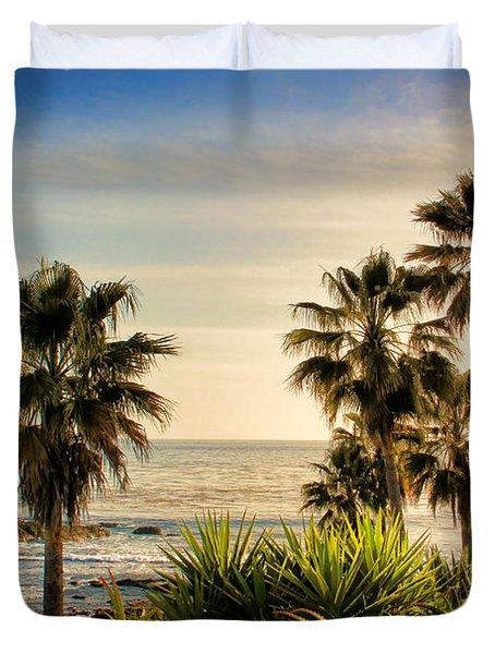Laguna Beach Duvet Cover by Mariola Bitner