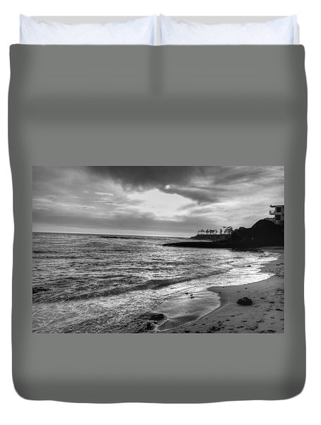 Laguna Beach Sunset Duvet Cover