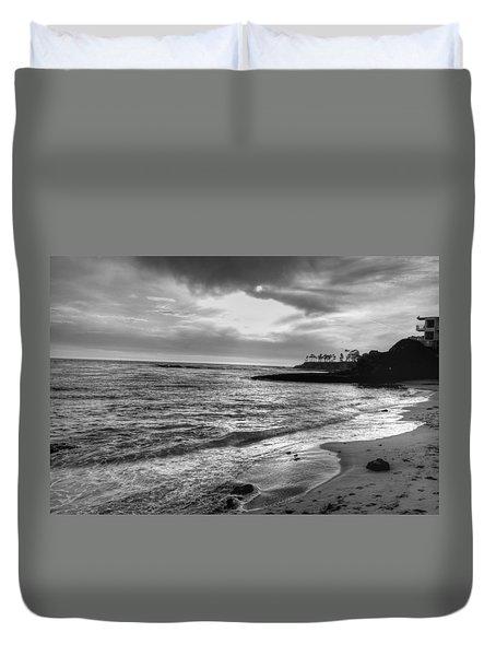 Laguna Beach Sunset Duvet Cover