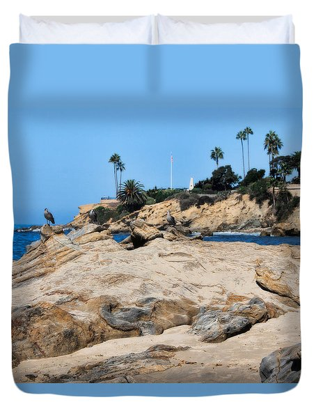 Laguna Duvet Cover by Tammy Espino