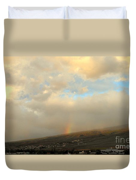 Lahaina Rainbow Duvet Cover by Fred Wilson