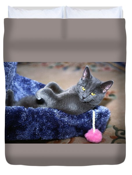 Laid Back Duvet Cover by Sally Weigand