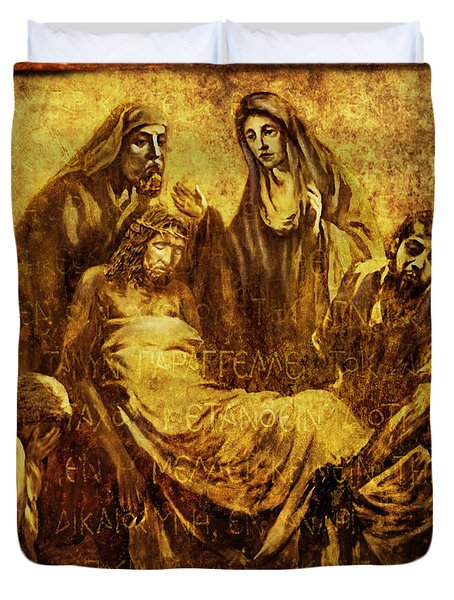 Laid_in_the_tomb Via Dolorosa 14 Duvet Cover