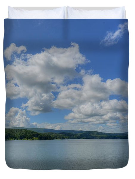 Duvet Cover featuring the photograph Lake Arrowhead by Julia Wilcox