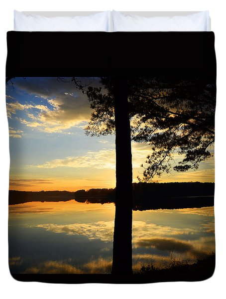 Lake At Sunrise Duvet Cover