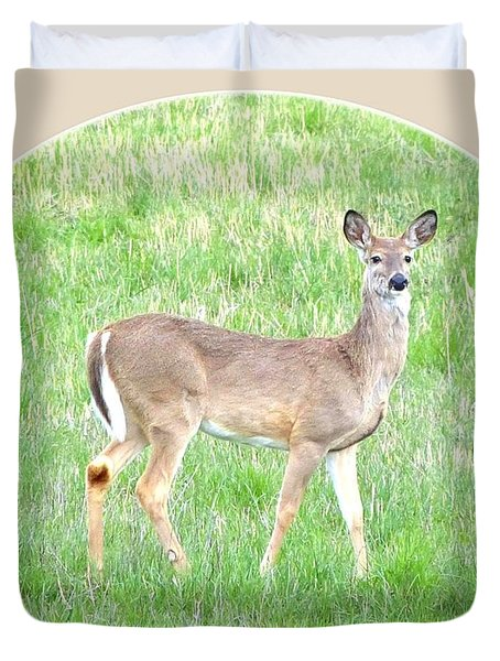 Lake Country Doe   Duvet Cover by Will Borden