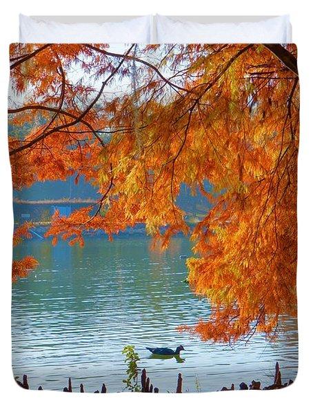 Lake Ella Morning Duvet Cover